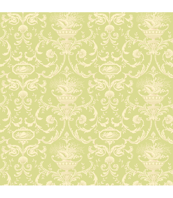 Rice paper for furniture decoration: Flowers in green color