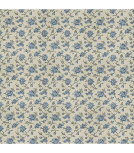 Rice paper for furniture decoration: Roses in blue color
