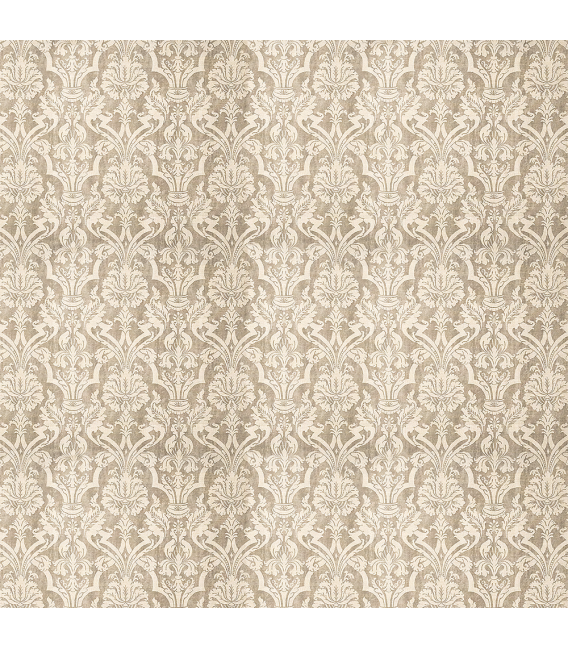 Rice paper for furniture decoration: Damask in brown color