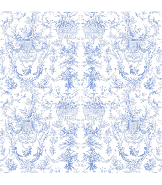Rice paper for furniture decoration: Toile de jouy in celestial color