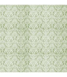 Carta di riso per il decoro del mobile: Damascato in tinta verde