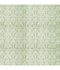 Rice paper for furniture decoration: Damask in green color