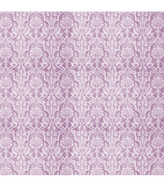 Rice paper for furniture decoration: Damask in violet color