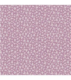 Carta di riso per il decoro del mobile: Foglie di Edera lilla