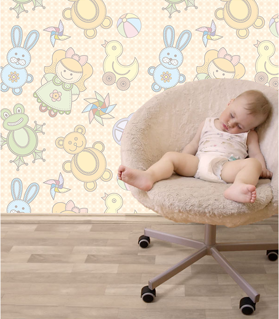 Wallpaper on japanese paper: BABY