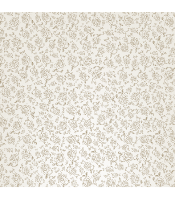 Rice paper for furniture decoration: Roses stylized in beige color