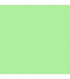 Carta di riso per il decoro del mobile: Pois colorati verde