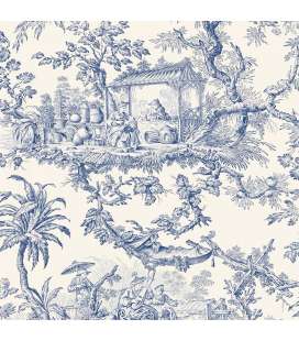 Rice paper for furniture decoration: Toile de jouy classic