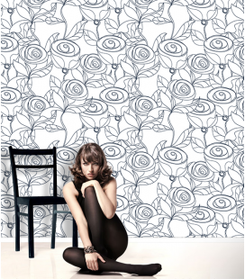 Wallpaper on japanese paper: LINEART