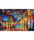 Leonid Afremov - Street. Printing on canvas