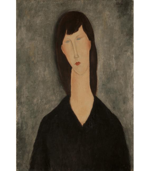 Stampa su tela: Amedeo Modigliani - Busto di Donna