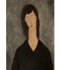 Amedeo Modigliani - Busto di Donna. Stampa su tela
