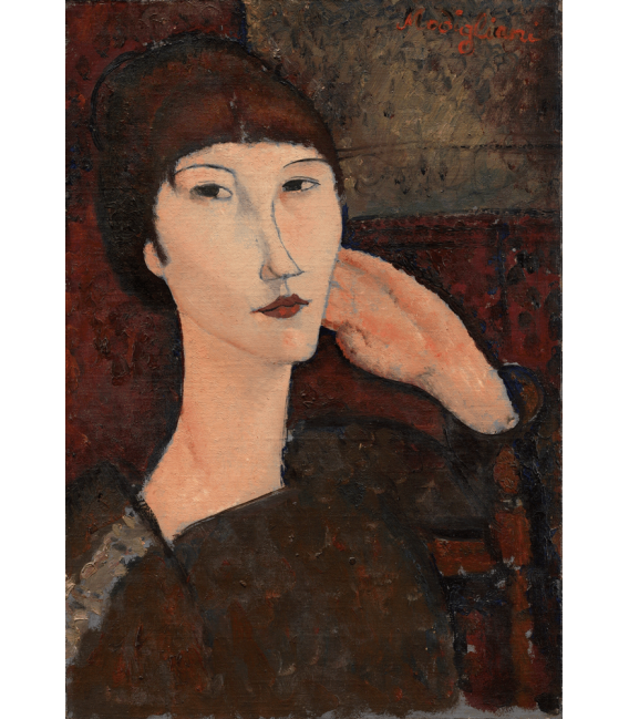 Printing on canvas: Amedeo Modigliani - Adrienne (Woman with Bangs)
