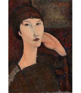 Stampa su tela: Amedeo Modigliani - Adrienne (Donna con Bangs)