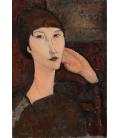 Amedeo Modigliani - Adrienne (Donna con frangia). Stampa su tela