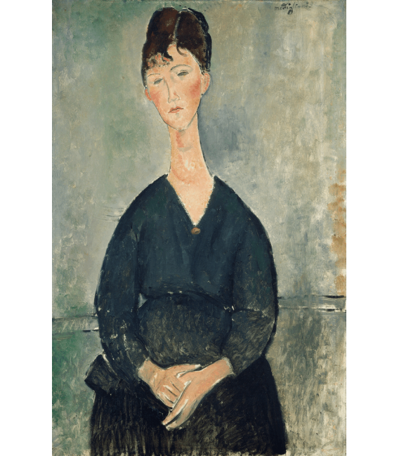 Printing on canvas: Amedeo Modigliani - Cafe Singer