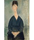 Amedeo Modigliani - Café Singer. Stampa su tela