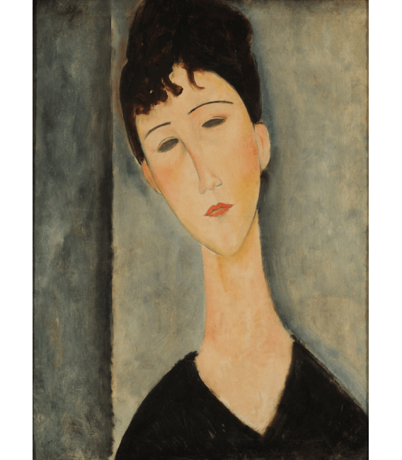 Stampa su tela: Amedeo Modigliani - Figura di moglie