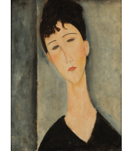 Amedeo Modigliani - Figura di moglie. Stampa su tela