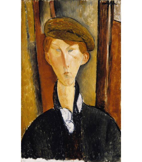 Stampa su tela: Amedeo Modigliani - Giovane uomo col cappello