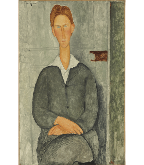 Printing on canvas: Amedeo Modigliani - Young man with red hair