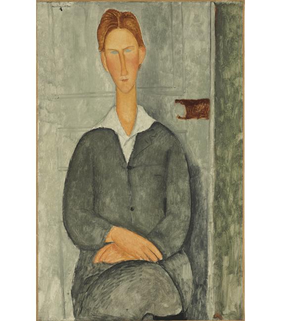 Stampa su tela: Amedeo Modigliani - Giovane uomo con i capelli rossi