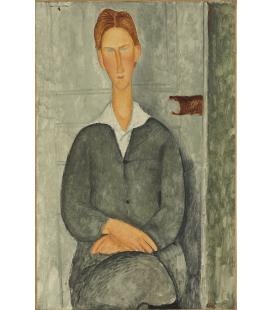 Amedeo Modigliani - Giovane uomo con i capelli rossi. Stampa su tela