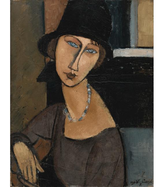 Stampa su tela: Amedeo Modigliani - Jeanne Hébuterne (au chapeau)