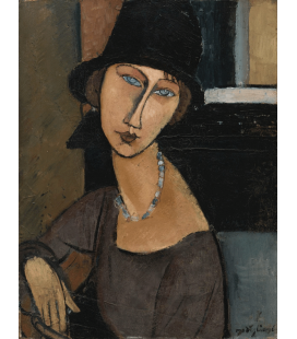 Amedeo Modigliani - Jeanne Hébuterne with hat. Printing on canvas