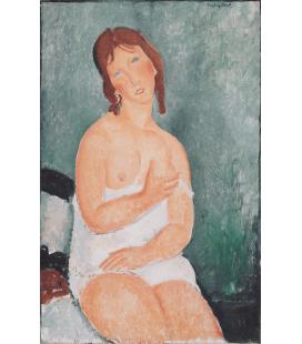 Amedeo Modigliani - Giovane donna in camicia. Stampa su tela