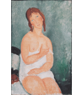 Printing on canvas: Amedeo Modigliani - Young woman in shirt
