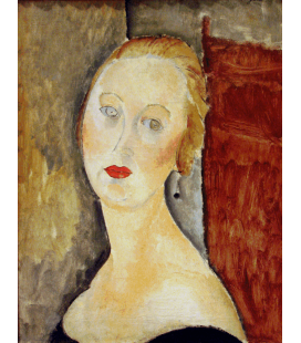 Printing on canvas: Amedeo Modigliani - The Blonde Woman (Portrait of Germaine Survage)