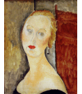 Amedeo Modigliani - The Blonde Woman (Portrait of Germaine Survage). Printing on canvas
