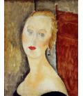Stampa su tela: Amedeo Modigliani - La Femme Blonde (portrait de Germaine Survage)