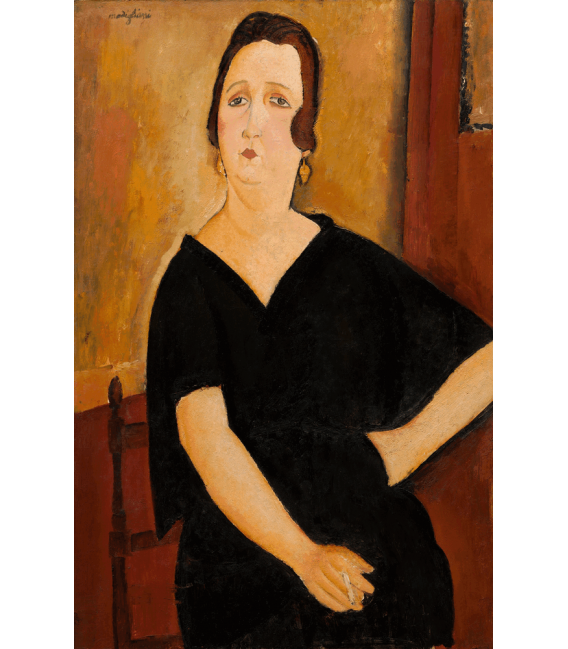 Printing on canvas: Amedeo Modigliani - Mrs. Amédée (woman with cigarette)