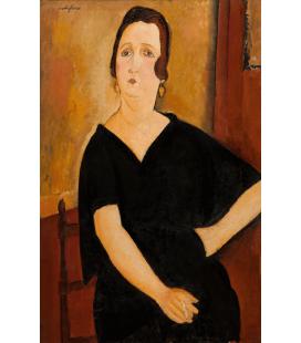 Amedeo Modigliani - La signora Amédée (donna con la sigaretta). Stampa su tela