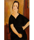Amedeo Modigliani - Mrs. Amédée (woman with cigarette). Printing on canvas