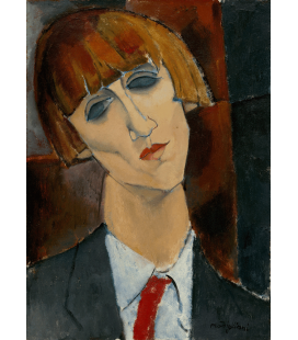 Amedeo Modigliani - Madame Kisling. Stampa su tela
