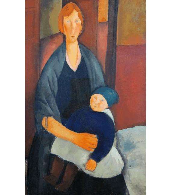 Stampa su tela: Amedeo Modigliani - Maternità