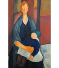 Amedeo Modigliani - Maternità. Stampa su tela