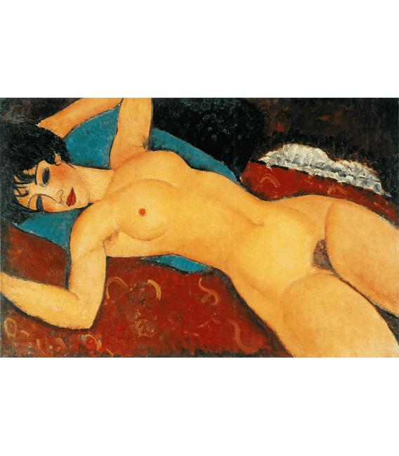 Stampa su tela: Amedeo Modigliani - Nudo Rosso