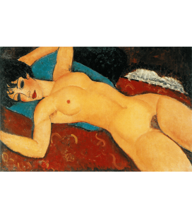 Amedeo Modigliani - Naked Red. Printing on canvas