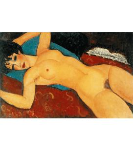 Amedeo Modigliani - Nudo Rosso. Stampa su tela