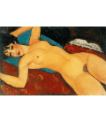 Printing on canvas: Amedeo Modigliani - Naked Red