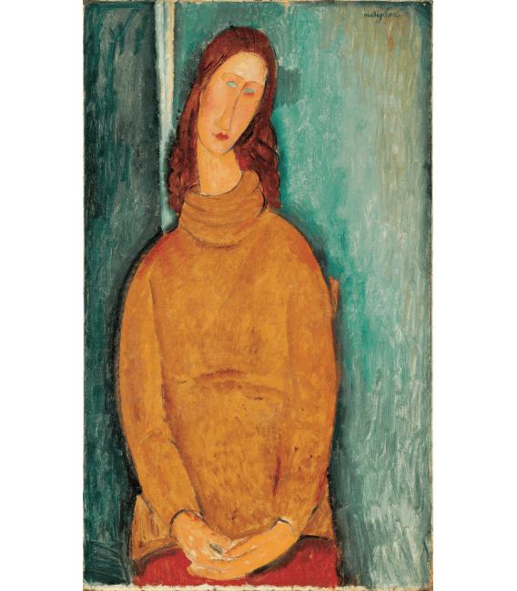 Stampa su tela: Amedeo Modigliani - Portrait of Jeanne Hébuterne