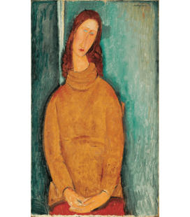 Printing on canvas: Amedeo Modigliani - Portrait of Jeanne Hebuterne