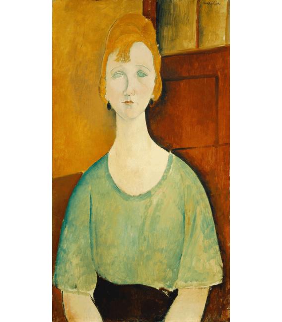 Stampa su tela: Amedeo Modigliani - Ragazza in una camicetta verde