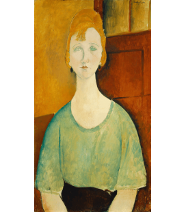 Amedeo Modigliani - Girl in a green blouse. Printing on canvas