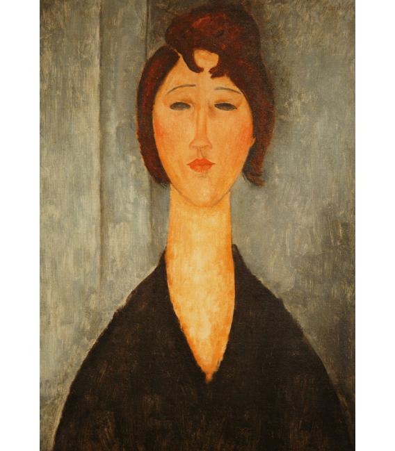 Stampa su tela: Amedeo Modigliani - Ritratto di donna