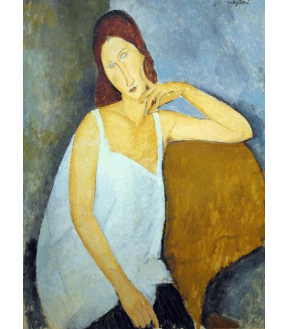 Stampa su tela: Amedeo Modigliani - Ritratto di Jeanne Hébuterne
